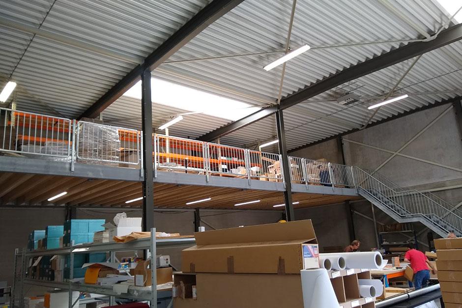 Uitbreiding verdiepingsvloer bedrijfsruimte