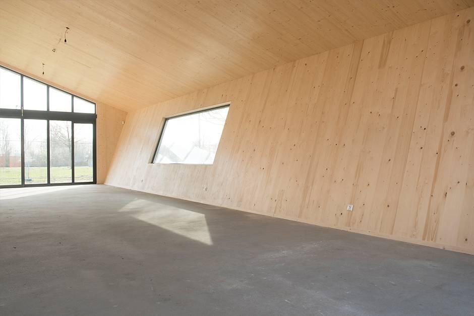 Houtbouw casco recreatiegebouw De Meent