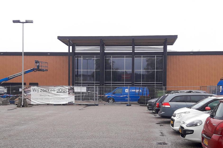 Entreeluifel Karwei bouwmarkt, Breda