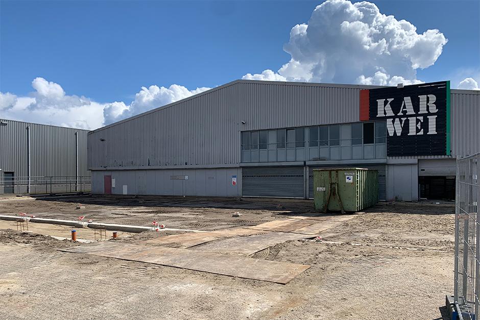 Karwei bouwmarkt Breda - Fundering gereed