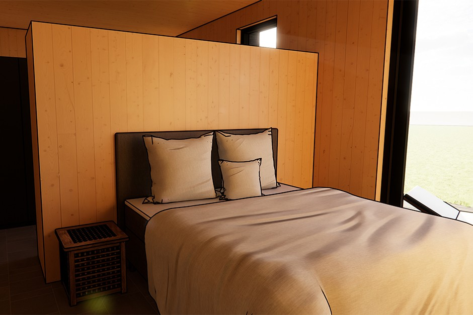 Slaapkamer in CLT
